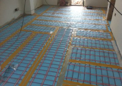 electric under floor heating, tiles to be installed over the top
