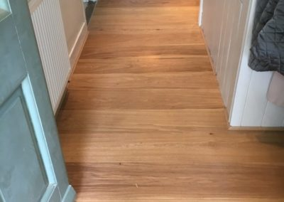 oak floor fitted