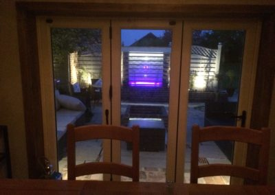 outdoor lighting though new doors