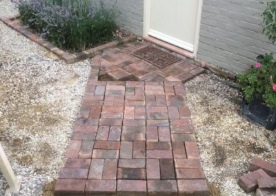 new brick path