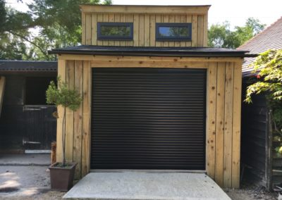 bespoke garage with office above, to our design