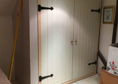 new cupboard fitted, in keeping with house