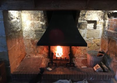 good draw on new fire place, after removing old wood burner pipe works