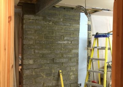 block works and lintel support