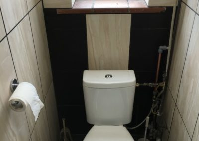 renovated industrial toilet