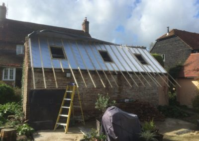 renovating out building velux window openings