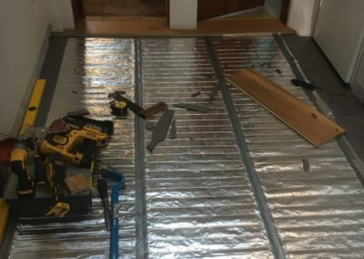 electric under floor heating, ready for oak over the top